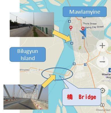 モーラミャイン、Bilugyun Island, ベリーアイランド、行き方、バイク、レンタル、mawlamyine.info
