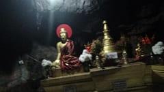 hpa an bayin nyi cave、バインニー洞窟の中です。