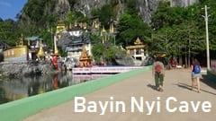 パアン、パ・アン、温泉、猿がいっぱい、Bayin Nyi Cave、バインニー洞窟、パゴダ