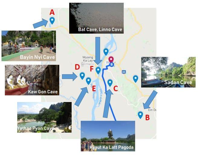 パ・アン パアン 旅行 モデルコース 観光スポット 観光場所 おすすめ Hpa-an, Pa-an