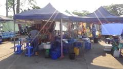 パ・アン Hpa-an ナイトマーケット Night Marketの写真
