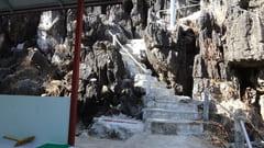 キャウッタロン・パゴダ Kyauk Ta Lone Pagoda Taung Mountain 途中 Middle of point モーラミャイン Mawlamyine 写真 photo