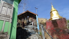 キャウッタロン・パゴダ Kyauk Ta Lone Pagoda Taung Mountain 頂上 Top of the mountain モーラミャイン Mawlamyine 写真 photo