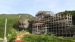 モーラミャイン 寝大仏の外壁 工事中の写真 Win Sein Taw Ya Buddha Reclinado En Construccion Sleeping Big Buddha Pagoda making outside Photos