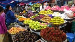 フルーツ、モーラミャイン、ミャンマー、果物、写真