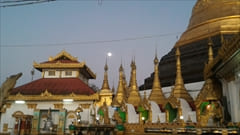 mawlamyine kyeik than lan pagoda、モーラミャイン旅行観光情報、写真、夜景、満月