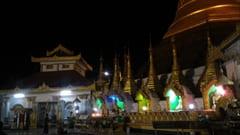mawlamyine kyeik than lan pagoda、夜景、モーラミャイン・トラベル・インフォメーション、写真