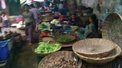mawlamyine zeigyi no.2 market 食料品、モーラミャイン市内