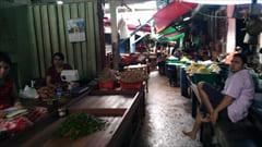 モーラミャイン・パアン・旅行観光情報、mawlamyine zeigyi no.2 market マーケット、食料品