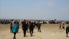ミャンマー、モーラミャイン、セットセ・ビーチ、モーラミャイン、シルバービーチ、ウォーターフェスティバルの時の写真