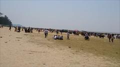 Setse beach、myanmar、mawlamyine、water festival、photo
