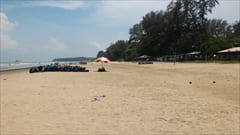Setse beach、silver beach、セットセ・ビーチ、モーラミャイン、シルバービーチ、写真