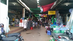mawlamyine zeigyi central market、マーケット、モーラミャイン市内、お菓子、食べ物